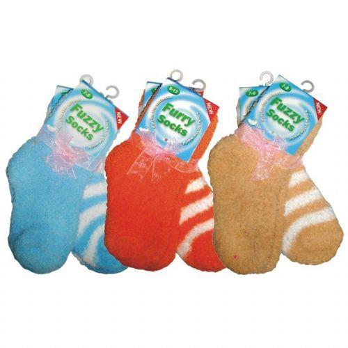Fuzzy Sock Kid 2PK Assorted Colors