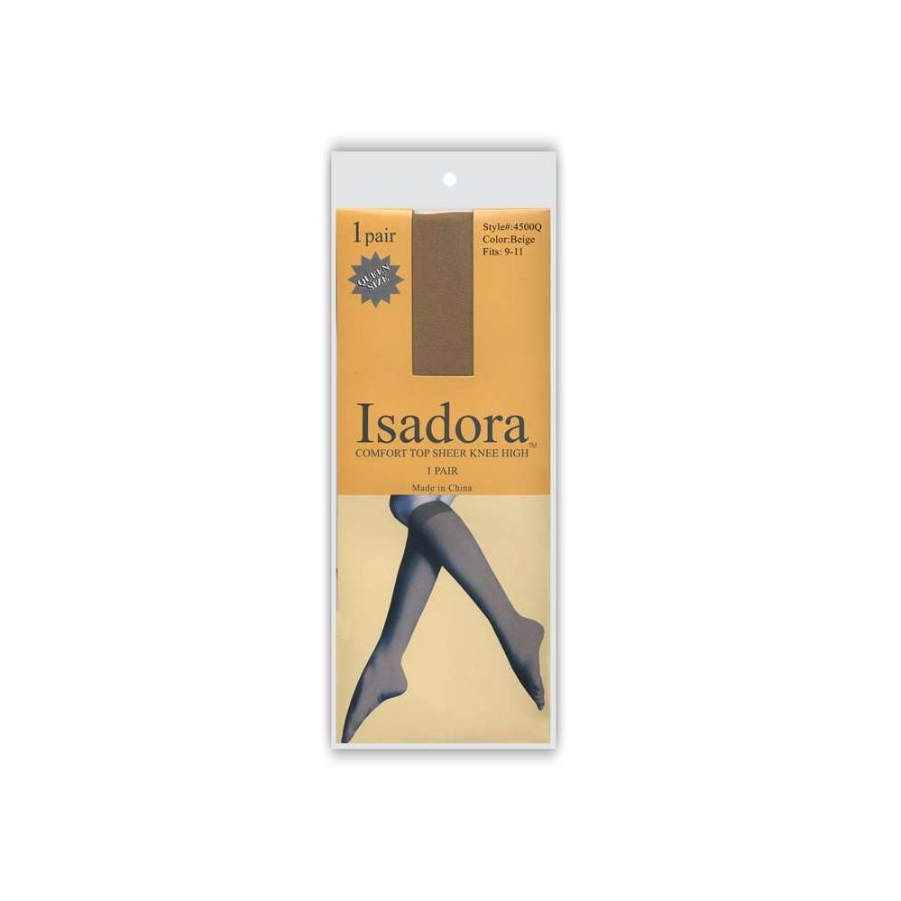 1 Pack Isadora Sheer Knee High QUEEN SIZE