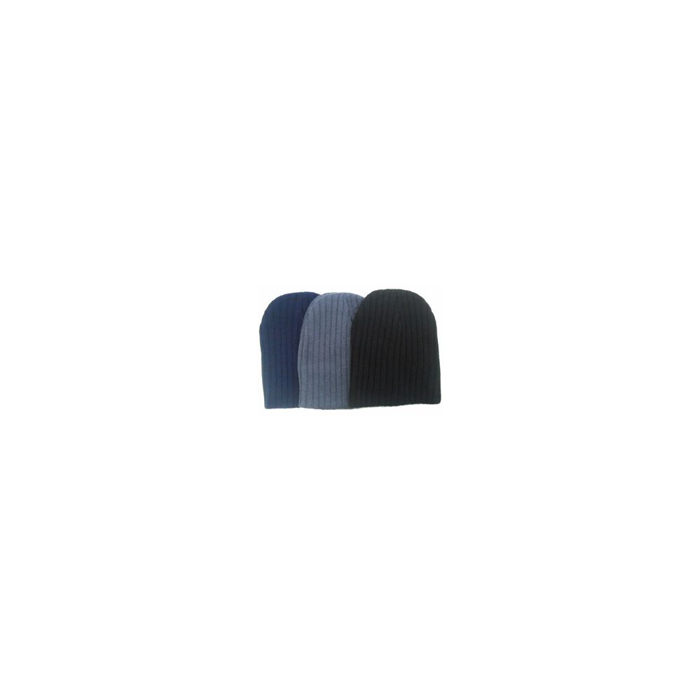 Stripe Winter Ribbed Beanie