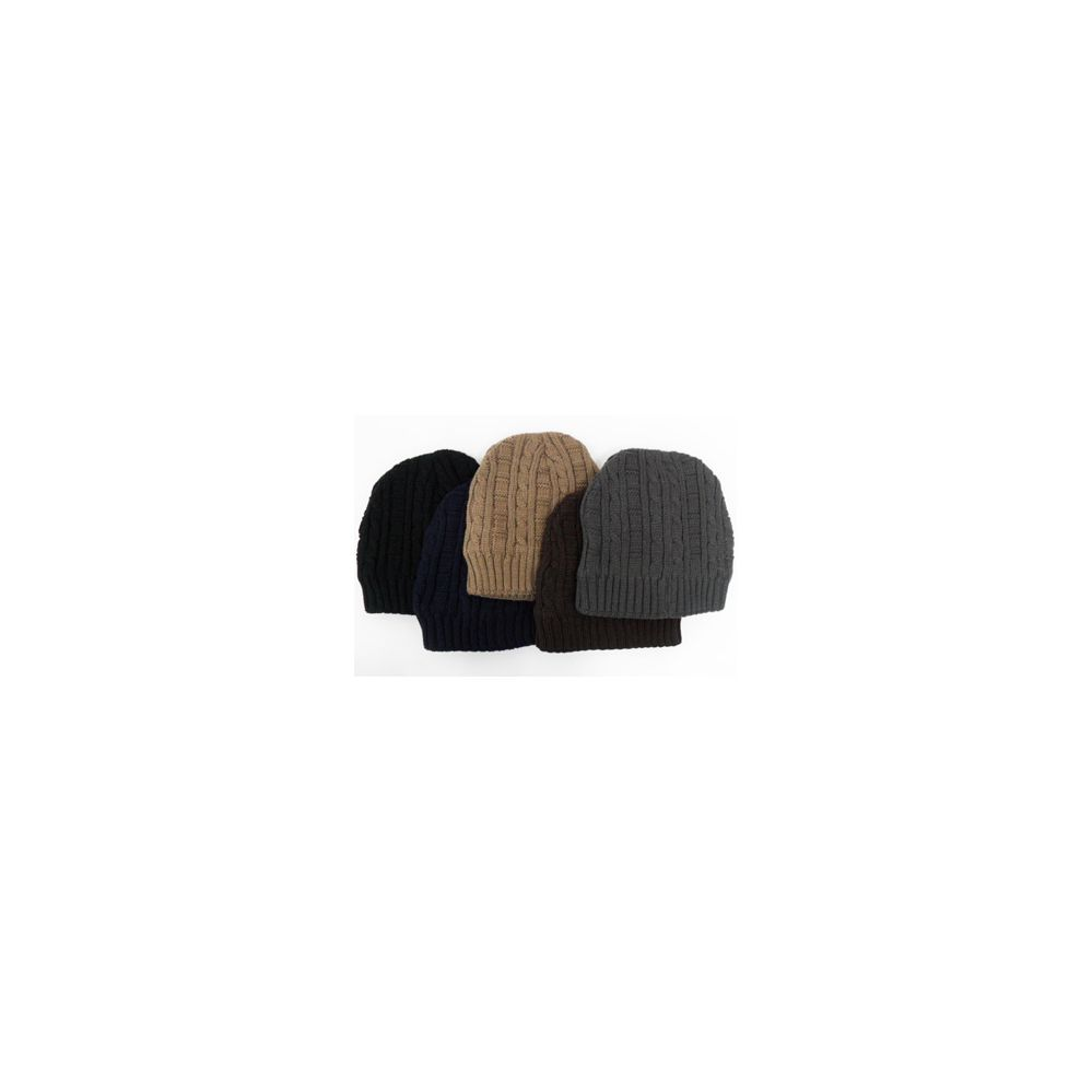 Knitted Beanie Hat with Thermal Lining