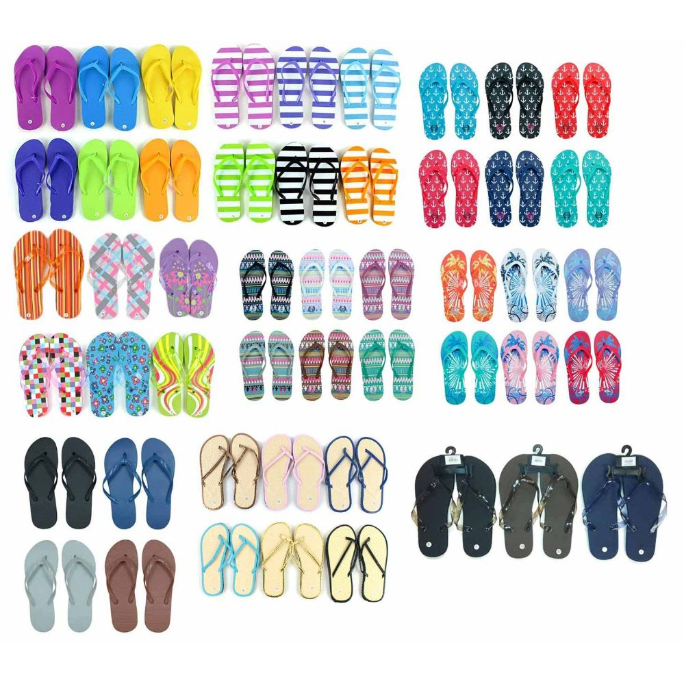 Pallet Deal Assorted Men and Woman Flip Flops