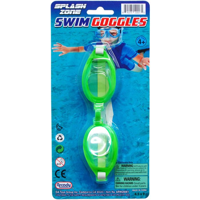 """6"""" SWIMMING GOGGLES ON BLISTER CARD"""