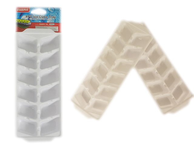 4pc White Ice Cube Trays