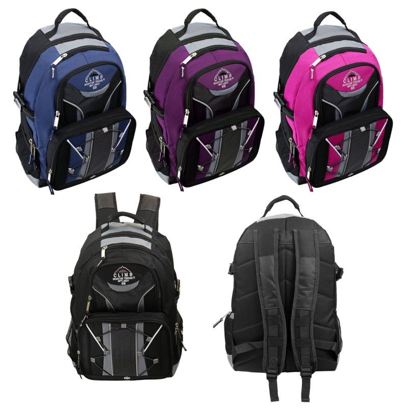 """18"""" Laptop Sleeve with Multi-Compartment Backpacks in 4 Assorted Colors"""