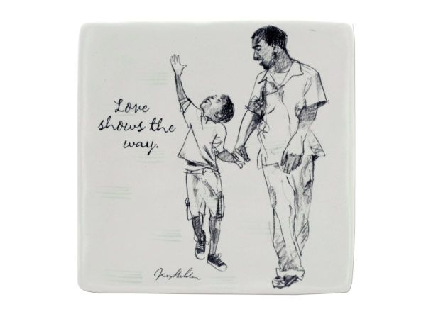 Love Shows the Way Ceramic Art Tile