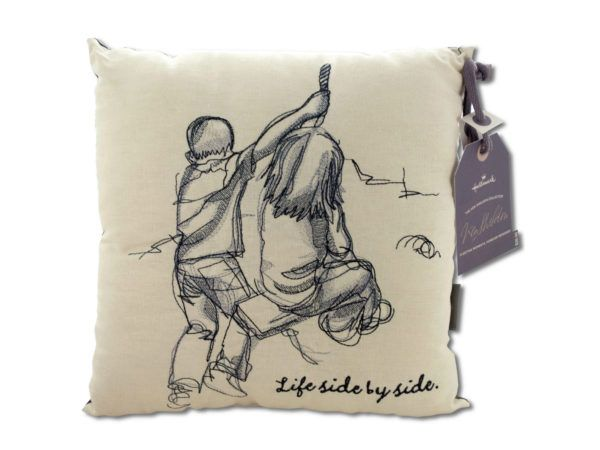 Life Side by Side Embroidered Accent Pillow