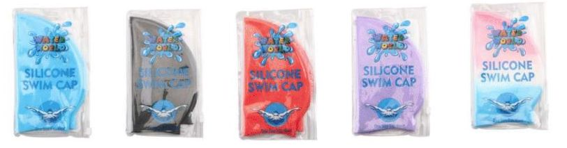 Silicone Assorted Color Swimming Cap
