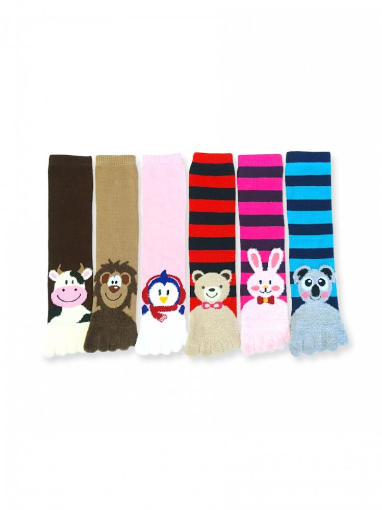 Women's Animal Fuzzy Toe Socks Size 9-11