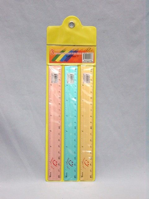 RULER THREE PIECE METAL ASSORTED COLOR