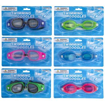 Swimming Goggles 2 Styles Assorted Colors