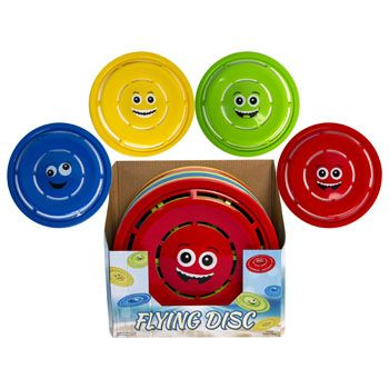 Flying Disc With Smiley Face 11.5in 4ast Colors