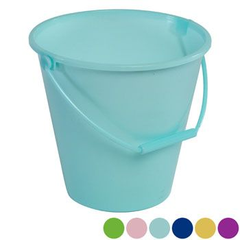 Bucket With Handle 6ast Solid Pastel Colors