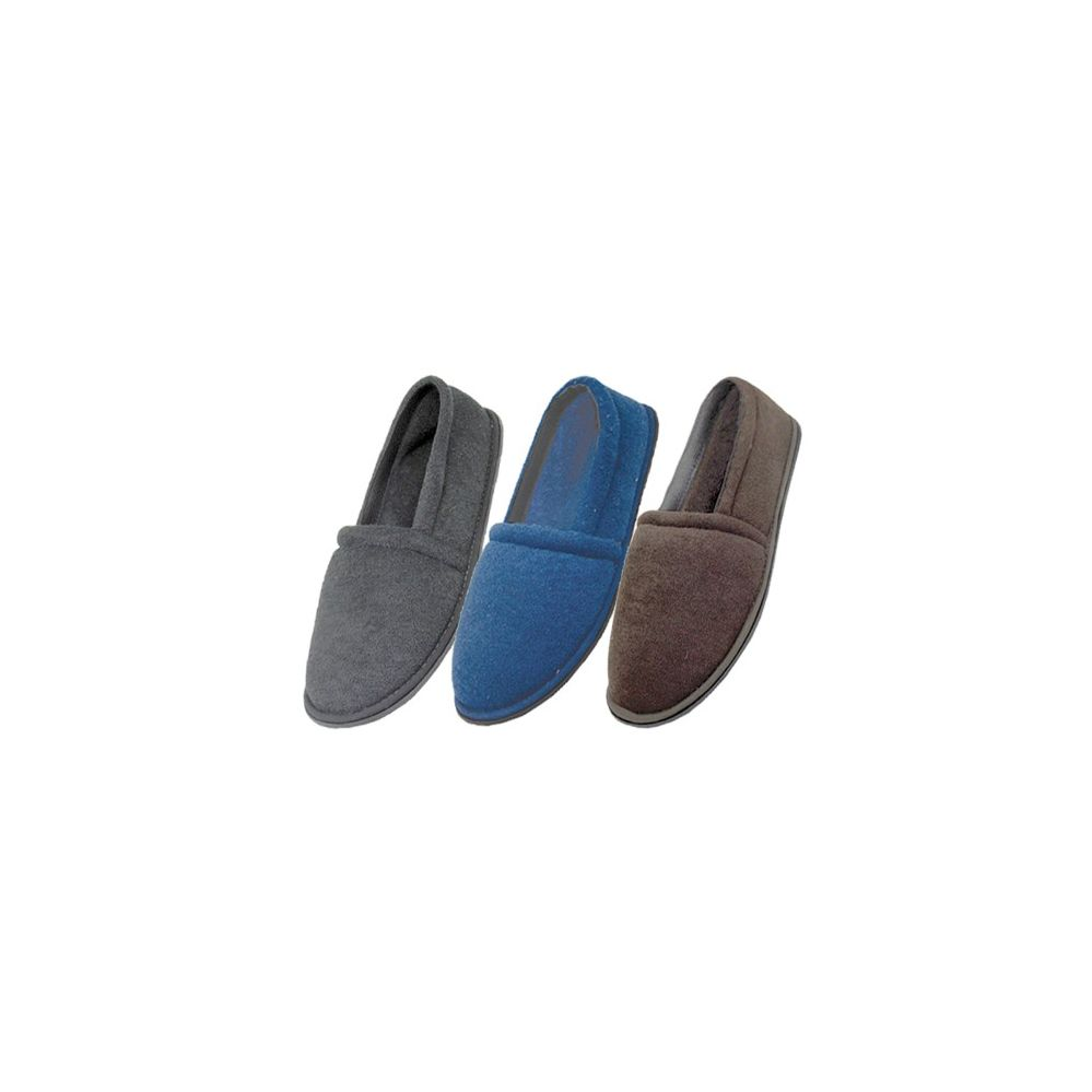 Men's Cotton Terry Upper Close Toe And Close Back House Shoes