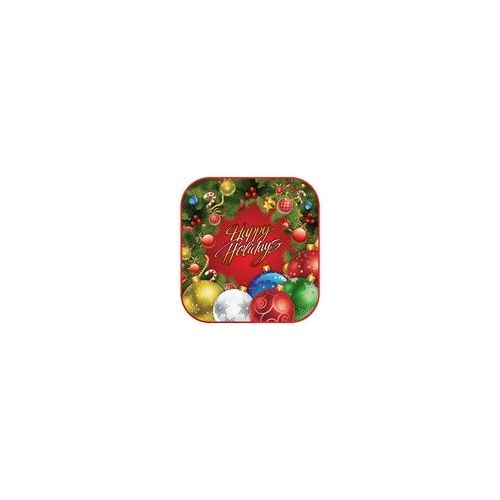 "Holiday Wreath 7"" Plate - 8ct"
