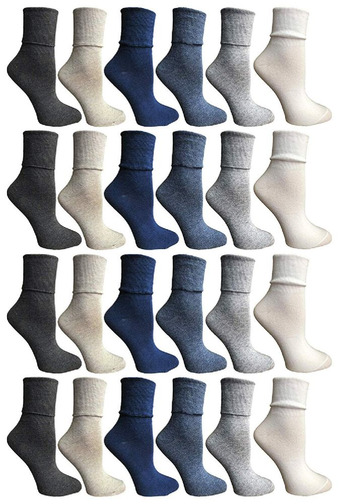 SOCKSNBULK Womens Womens Cuff Bobby Socks Size 9-11 Assorted Colors
