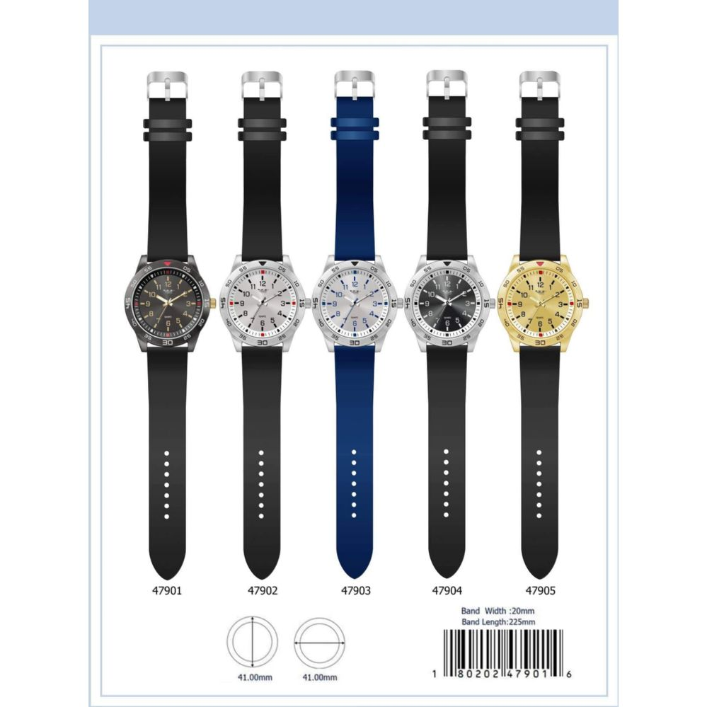 41MM Milano Expressions Silicon Band Watch - 47901-ASST