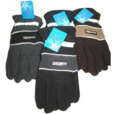 Mens Fleece Reflective Gloves
