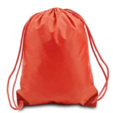 Drawstring Backpack - Orange