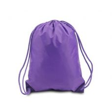 Drawstring Backpack - Purple