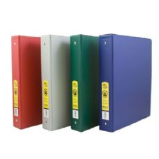 "BAZIC 1.5""  Asst. Color PVC 3-Ring Binder w/ 2-Pockets"
