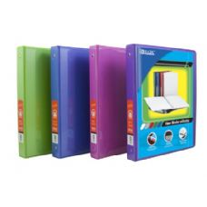 "BAZIC 1/2"" Bright Color 3-Ring View Binder w/ 2-Pockets"