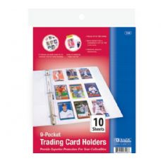 Bazic Top Loading 9-Pockets Sports Card Holder (10/pack)