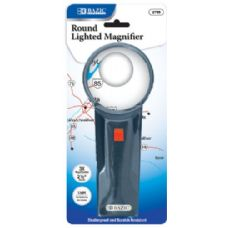 "Bazic 2.5"" Round 3x Lighted Magnifier"