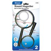 "Bazic 3.5"" & 2.5"" Round Handheld Magnifier Sets (2/pack)"