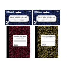 """BAZIC 80 Ct. 4.5"""" x 3.25"""" Mini Marble Composition Book (2/Pack)"""