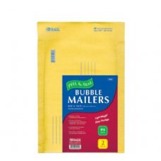 """BAZIC 9.5"""" X 13.5"""" (#4) Self Sealing Bubble Mailers (2/Pack)"""