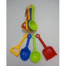 4pc Sand Toys [Rake-Shovels]
