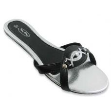 Sterling Buckled Flat Sandals