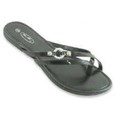 Ladies Double Strap Flat Sandals