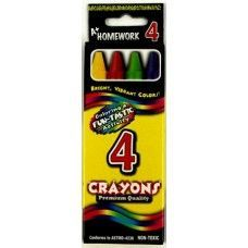 Crayons - 4 pk - Boxed - Asst. Colors