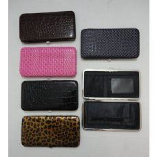 Ladies Flat Wallet with Push Button Clasp [Assorted]
