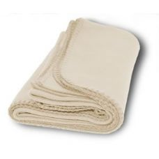 Promo Fleece Blankets in Cream