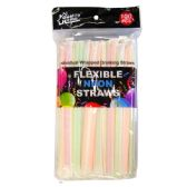 100 Count Drinking Neon Straws