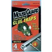Baited Disposable Mouse Glue Trap 4 Pack