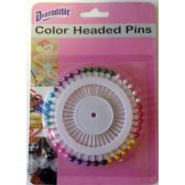 Color Headed Straight Pins