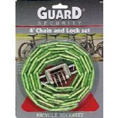 Heavy Duty 4 ft Chain and Combination Lock