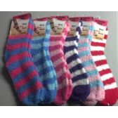 Stripe Fuzzy Sock