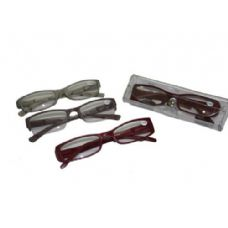 Assorted Color Plastic Reading Glasses With Case