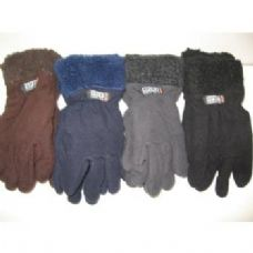 Fleece Gloves w/ Fur Top