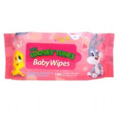 Baby Looney Tunes Baby Wipes 100CT in Pink