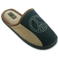 Mens Slippers With Peace Sign
