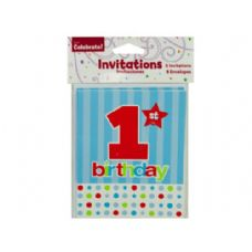 8 pack 1st birthday invites