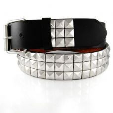 Pyramid Studded Silver Belt