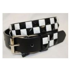 Pyramid Studded Black & White Belt