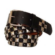Pyramid Studded Gold & Black Belt