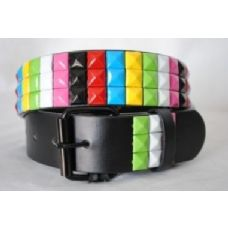 Pyramid Studded Rainbow Belt